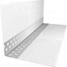 Профиль фасадный ПВХ с сеткой 10х10 см, 3.0м